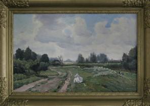 Landschap met geiten